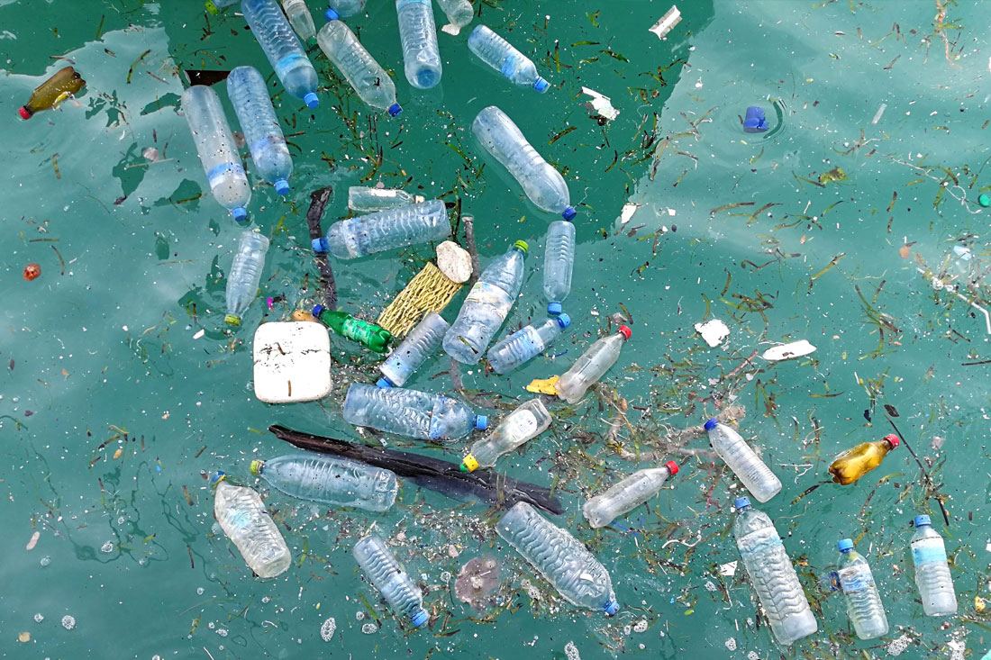 Plastic debris polluting our oceans