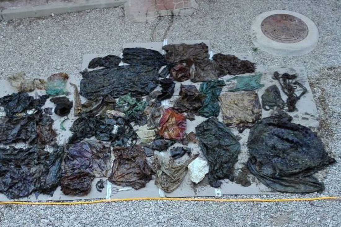 Over 63 pounds of plastic were found in the whale's belly